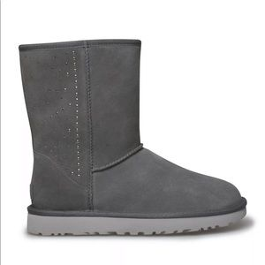 UGG Classic Short Studded Bling  Suede Boots